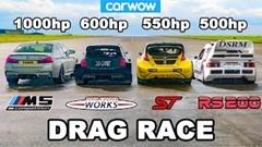 1000馬力 BMW M5 vs ラリークロスレーサー ドラッグレース動画
