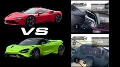 フェラーリ SF90 vs マクラーレン 765LT 加速比較動画