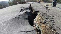 エビスサーキット 地震による地滑りでとんでもない事になる