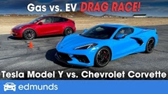 シボレー コルベット vs テスラ モデルY ドラッグレース動画