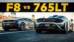フェラーリ F8 トリブート vs マクラーレン 765LT ドラッグレース動画