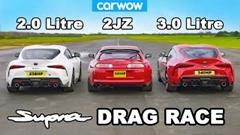 トヨタ 90スープラ 3.0 vs 90スープラ 2.0 vs 80スープラ ドラッグレース動画