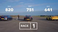 ポルシェ 992 ターボS vs タイカン ターボS vs 820馬力 日産 GT-R ドラッグレース動画