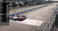 マツダ MX-5 CUPで白熱のバトルを繰り広げた3台が同時にゴール!!!!