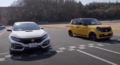 ホンダ N-ONE RS vs シビック TYPE R 50mドラッグレース動画