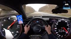 アウディ RS6 のメーター あまりの速さに気を失う