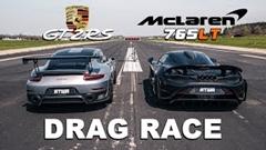 マクラーレン 765LT vs ポルシェ 991 GT2 RS ドラッグレース動画