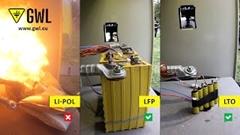 LiPo vs LTO vs LiFe バッテリー安全性対決動画