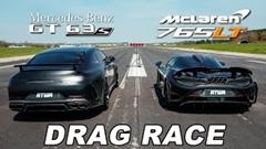 870馬力 メルセデス AMG GT63 S vs マクラーレン 765LT ドラッグレース動画