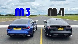 BMW M3 G80 vs M4 G82 ドラッグレース動画