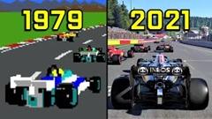 1979年から2021年までのF1レースゲームの進化を見てみよう