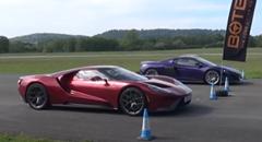 マクラーレン 765LT vs フォード GT ドラッグレース動画