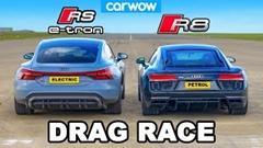 アウディ R8 vs RS e-tron GT ドラッグレース動画