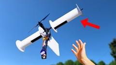 翼もプロペラも使わずマグナス効果だけでRC飛行機が飛べるか実験してみた