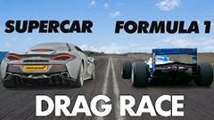 F1 vs マクラーレン 570GT ドラッグレース動画