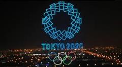 東京オリンピックの中国選手の活躍をねぎらうドローンショー