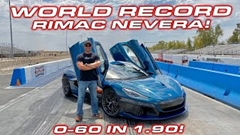 リマック ネヴェーラ ゼロヨン8秒582市販車最速動画