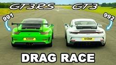 ポルシェ 992 GT3 vs 991 GT3 RS ドラッグレース動画