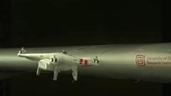 ドローンが飛行機の翼に衝突するとこうなるらしいよ